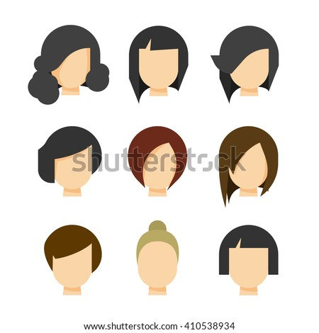 hair styling vector