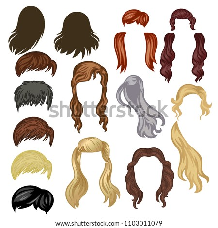 hair vector isolated