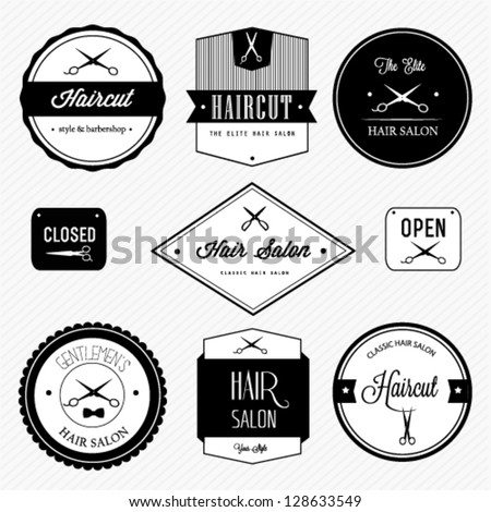 Haircut barber shop set