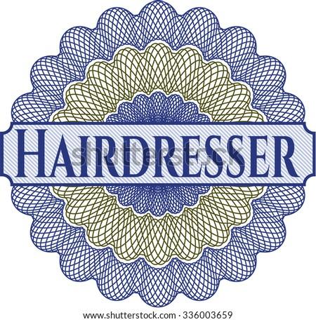 Hairdresser abstract linear rosette