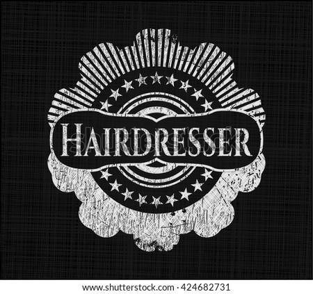 Hairdresser chalk emblem