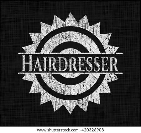 Hairdresser chalkboard emblem
