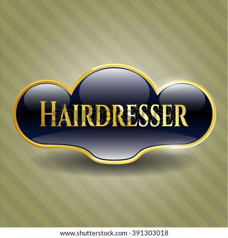 Hairdresser golden badge