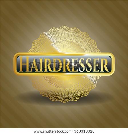 Hairdresser golden emblem