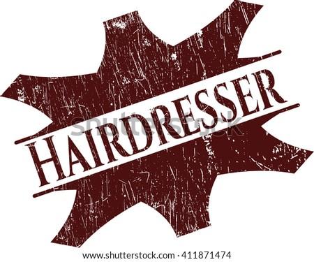 Hairdresser grunge seal