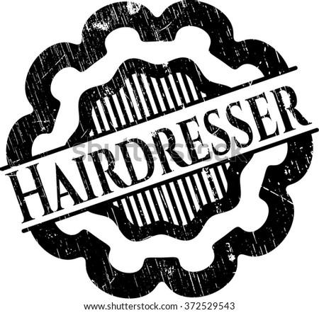 Hairdresser grunge stamp