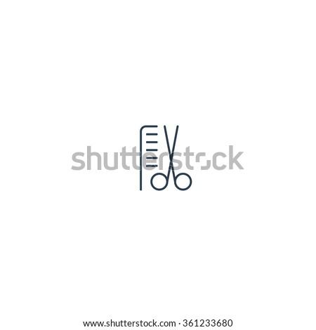 hairdresser minimalistic logo
