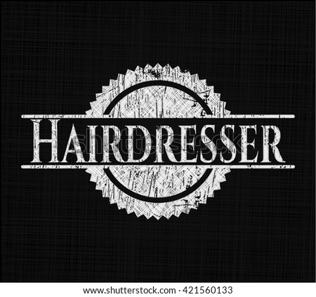Hairdresser on blackboard