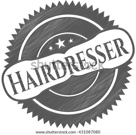 Hairdresser penciled