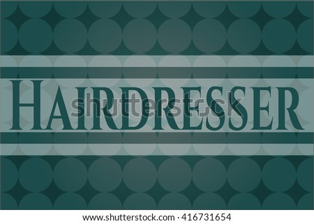 Hairdresser retro style card or poster