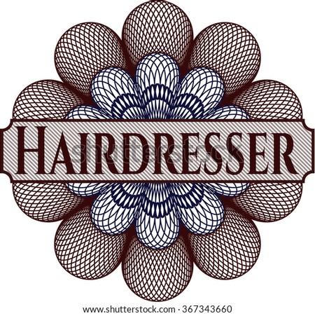 Hairdresser rosette
