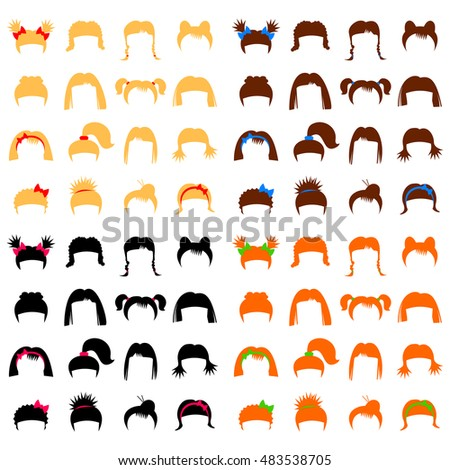 hairdresser set isolated on
