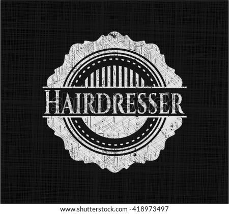 Hairdresser written on a blackboard