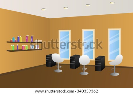 hairdressing salon orange