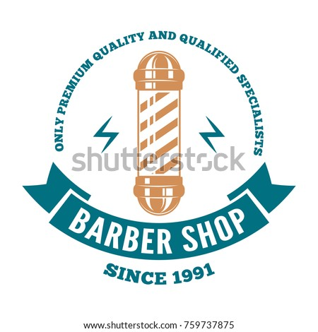hairdressing saloon logo  label ...