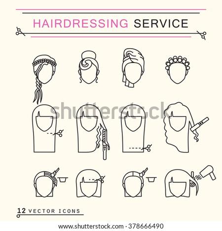 hairdressing service  line