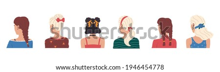 hairstyle cartoon female