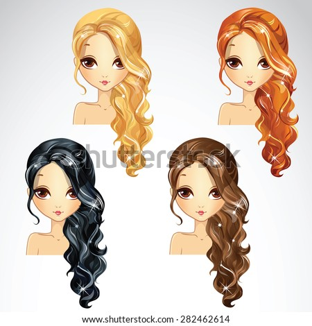 hairstyle wave tail collection
