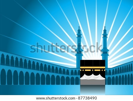 Hajj Pilgrimage Background 1-vector
