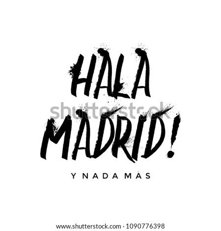 Hala Madrid Vector Illustration Stok fotoğraf ©