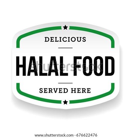 Halal Food vintage label