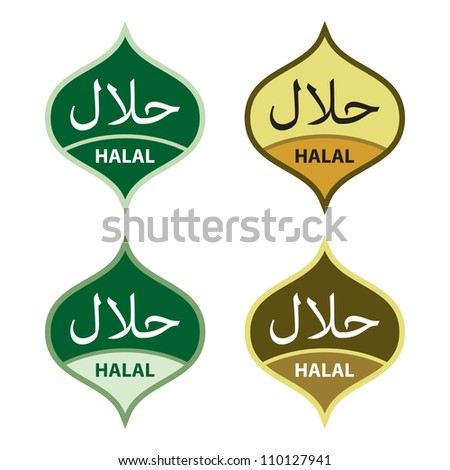 Halal product labels.