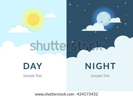 half day and night  sun and