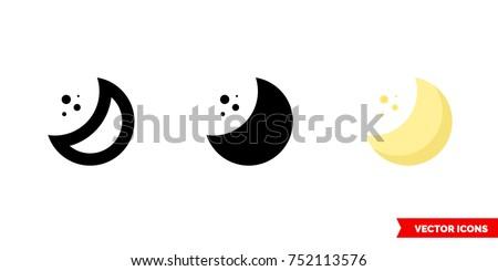 half moon icon of 3 types
