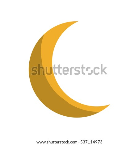half moon icon over white