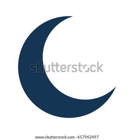 Half Moon Isolated Icon Ez Canvas