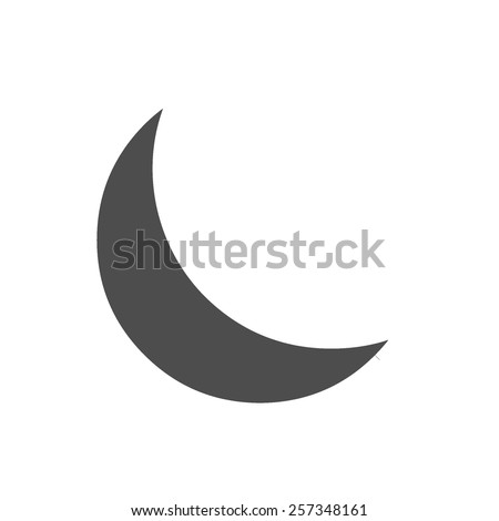 half moon vector image to be