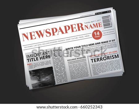Free Old Newspaper Template Vector Download Free Vector Art Stock