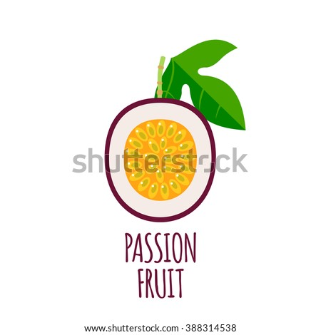 half of passion fruit icon