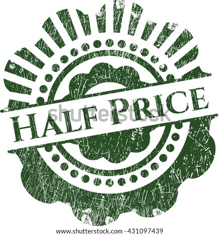 Half Price rubber seal with grunge texture