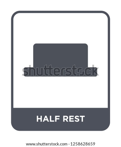 half rest icon vector on white background, half rest trendy filled icons from Music and media collection, half rest simple element illustration