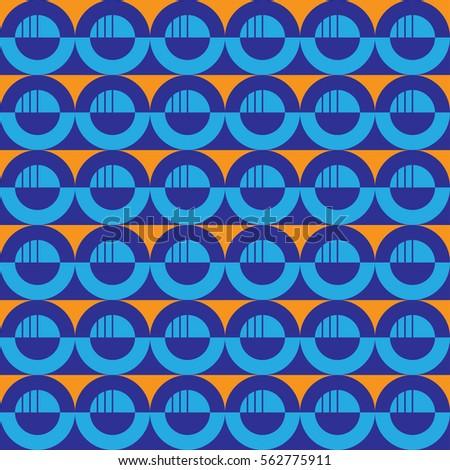half round moon pattern