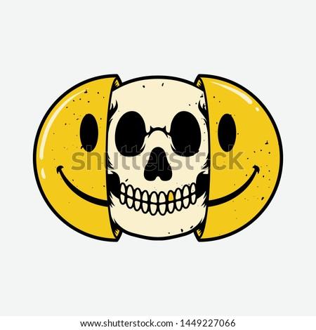 half skull emoticons  emojis