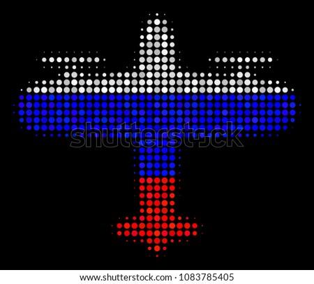 halftone aircraft pictogram