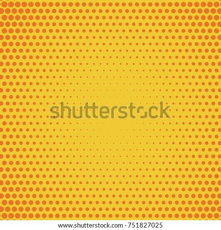 Stock Photo Halftone background. Comic background. Vector retro dotted template for labels. Yellow and orange geometric gradient for pop art designs. Vintage backdrop with isolated pattern for cartoon book.