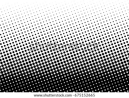 Halftone background. Comic dotted pattern. Pop art style. Backdrop with circles, dots, rounds design element for web banners, posters, cards, Wallpaper, sites. Black, white color. Vector illustration