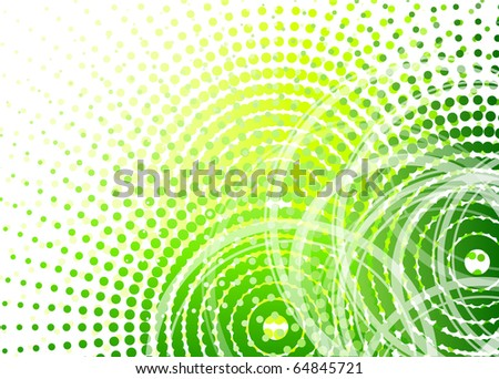 halftone background in green color