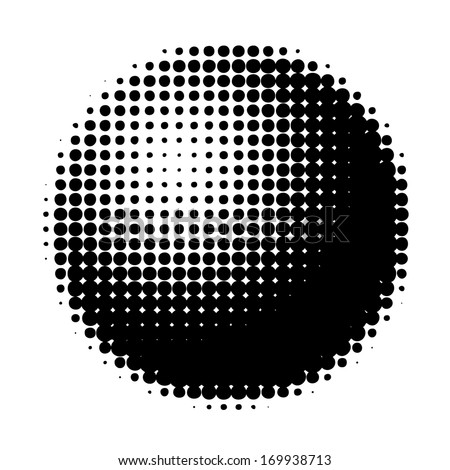 Halftone ball vector - isolated vector graphic element