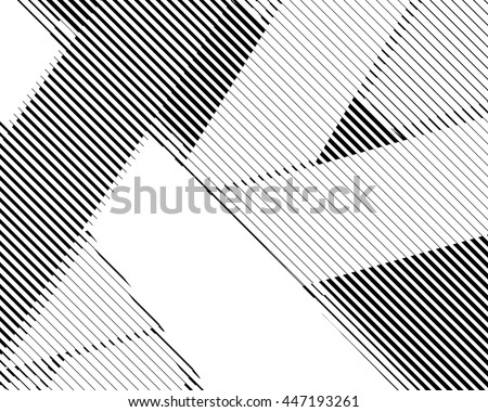 Halftone bitmap lines retro background Black and White