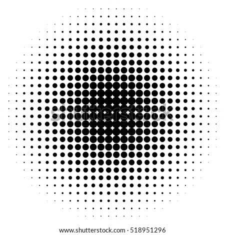 Halftone circles, halftone dot pattern stock photo