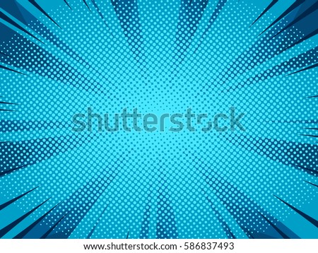 Halftone comic book superhero vector background