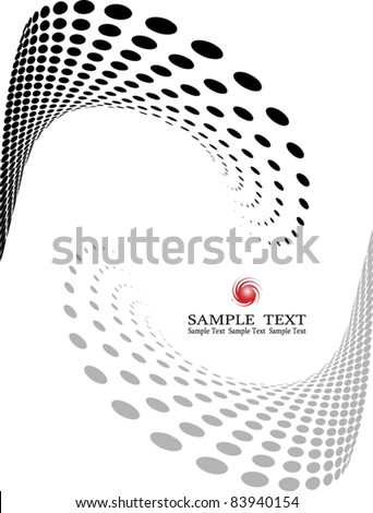 halftone dot pattern, Web template (halftone) - stock vector