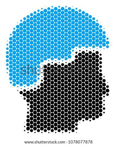 halftone dot soldier helmet