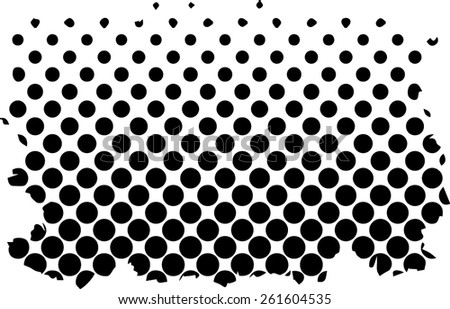 Halftone dots background - Logo Design Element. Abstract vector template - easy to use