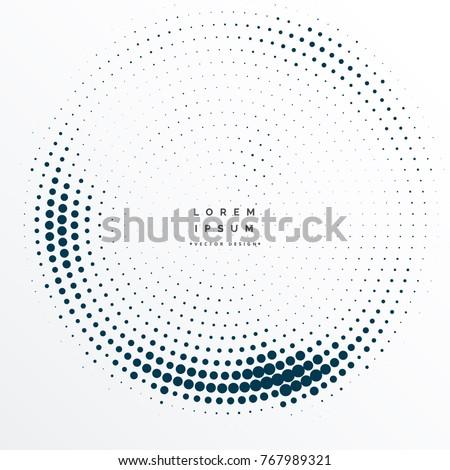 halftone dots frame background design