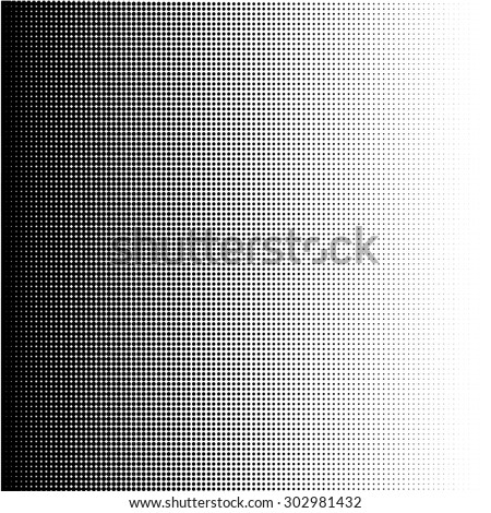 Halftone dots gradient in vector format